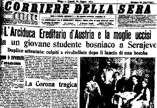 Corriere Sera Arciduca Sarajevo