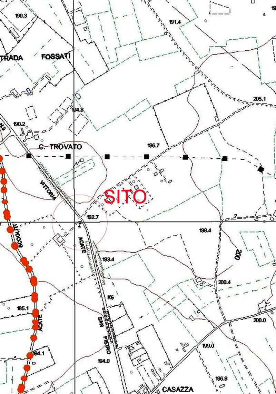 Mappa Acate contrada Cassazza